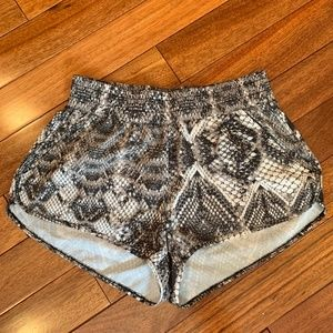 Show Me Your Mumu Snakeskin Print Athletic Shorts